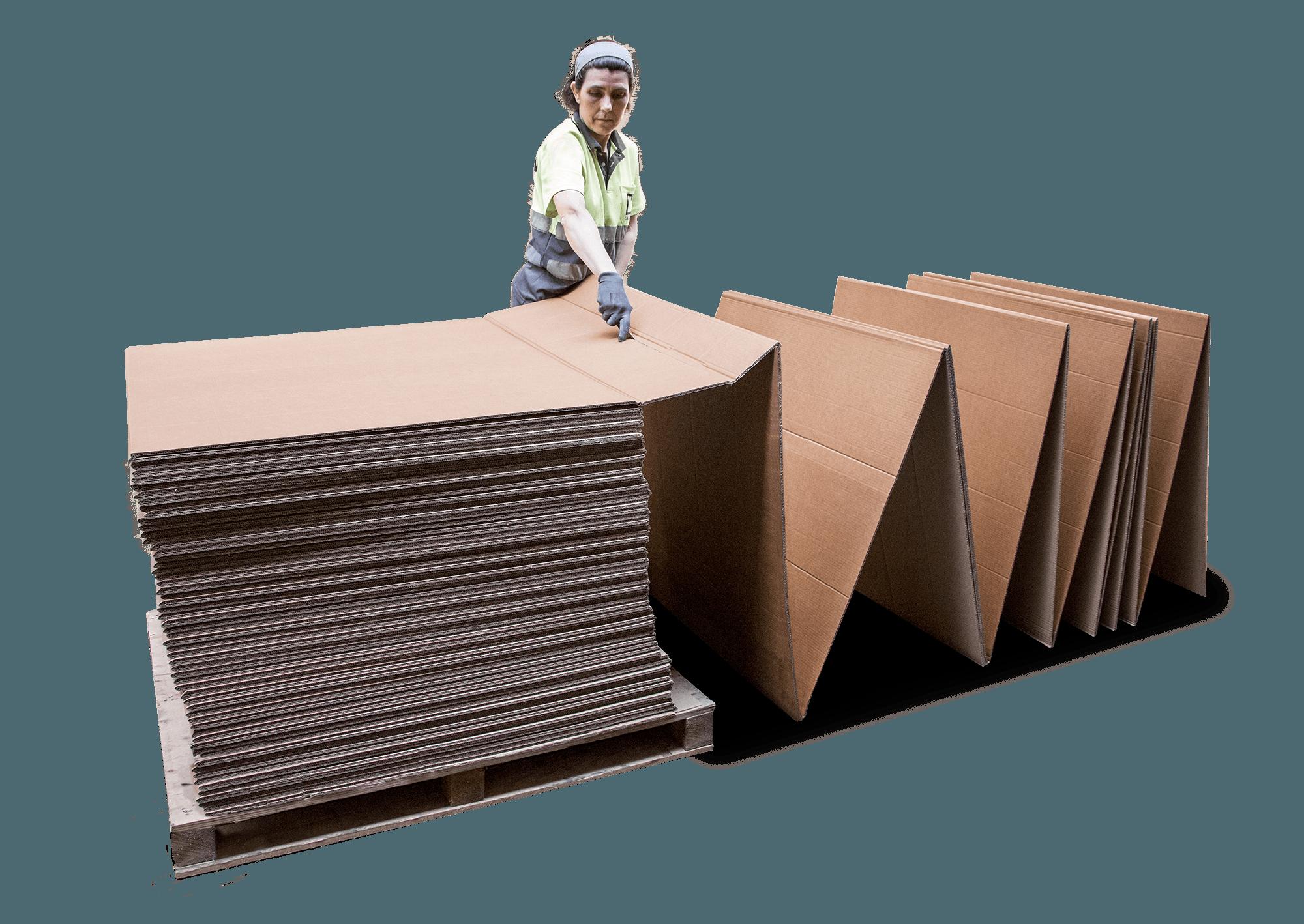 Cortando cartón fanfold